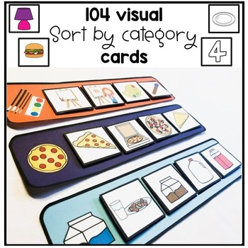 104 visual 'sort by category' cards. Autism. Speech. File