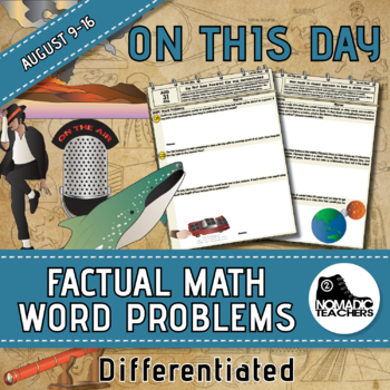 105 Math Word Problems - Daily Aug 25th to 31st