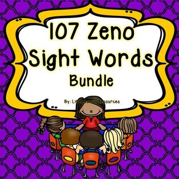 107 Zeno Sight Word Cards