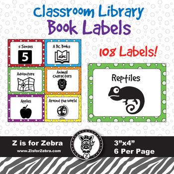 108 Book Bin Labels!