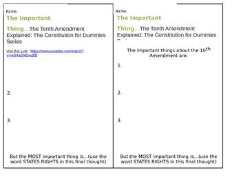 10th Amendment Formative Assessment