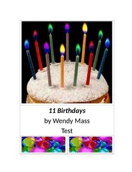 11 Birthdays by Wendy Mass Test