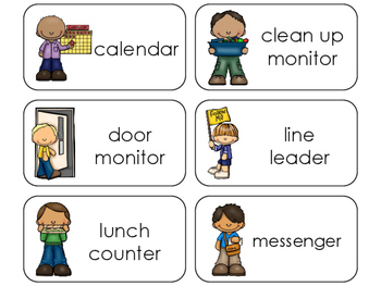 11 Class Jobs Beginning Stages Flashcards. Preschool-1st Grade