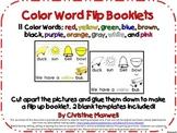 11 Color Word Flip Up Booklets