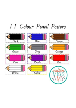 11 Colour Pencil Posters