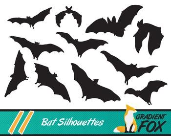 11 Halloween Bat Silhouettes