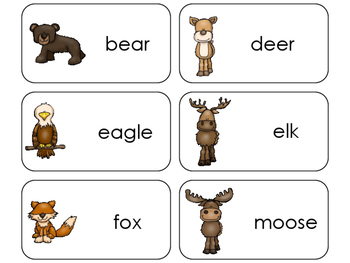 11 Mountain Animals Beginning Stages Flashcards. Preschool