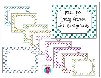 11 Polka Dot Frames With Backgrounds-