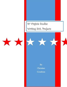 11 Virginia Studies SOL Writing Projects