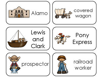 11 Westward Expansion Beginning Stages Flashcards. Prescho