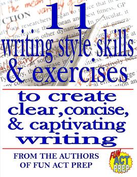 11 Writing Style Skills & Exercises NO PREP BUNDLE