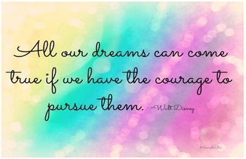 11 x 17 Poster- Motivation- All Our Dreams Can Come True C