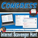 Congressional Leaders Scavenger Hunt Web Quest (Civics)