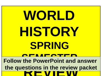 UNIT 14 LESSON 6. World History Spring Final Exam Review P