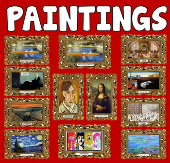 12 ART FRAMED PAINTINGS POSTERS KEY STAGE 1-4 DISPLAY EYFS