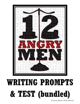 12 Angry Men (Jurors) Writing Prompts + Comprehension Test