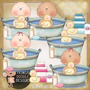 12-Baby Bath 300 dpi clipart