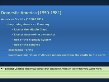 12. Civil Rights - Lesson 1 of 6 - American Society Post WWII