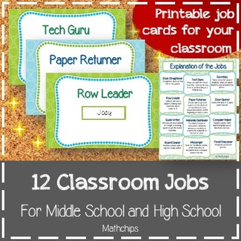 12 Classroom Jobs for Middle School and High School