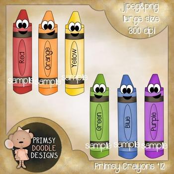 12-Crayons 300 dpi Clipart