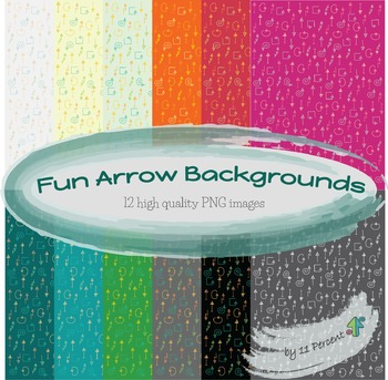 12 Cute and Fun Arrows Backgrounds