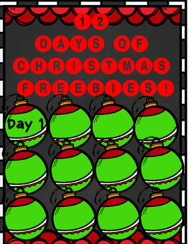 12 Days of Christmas FREEBIE! Day 1
