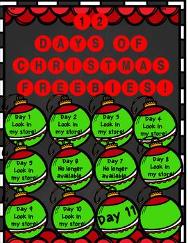 12 Days of Christmas FREEBIE Day 11 {Winter Math Printables}