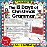 12 Days of Christmas Grammar  Daily Review Holiday Literac
