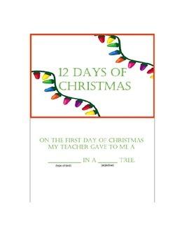 12 Days of Christmas Mad Lib