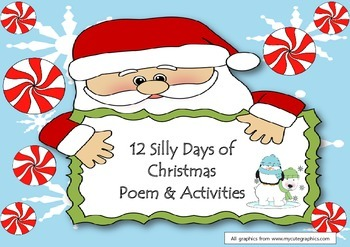 12 Silly Days of Christmas Song & Writing Activity