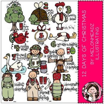 Melonheadz: 12 days of Christmas clip art
