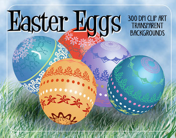 12 Easter Eggs in Bright Colors - 3D Shapes - High Resolut