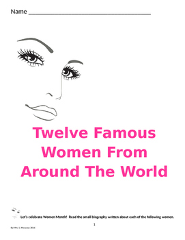 12 Famous Women from Around the World