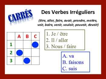French Irregular Verb Activities; Do Now, Fast Finisher, Homework