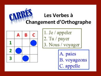 French Spelling-Change Verb Activities; Do Now, Fast Finis