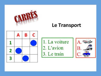 French Transportation Activities; Do Now, Fast Finisher, Homework