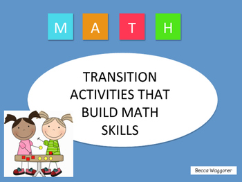Math Transition Activities