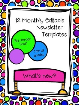 12 Monthly Editable Newsletter Templates