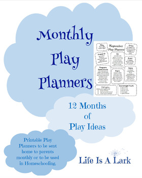 12 Months of Monthly Planners