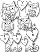 I LOVE Owls Doodles Clip Art ~ Valentine's Day ~ Hearts