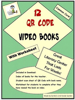 12 QR Code Video Books with Worksheets Literary Center Las