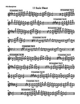 12 Scale Sheet - Alto Sax
