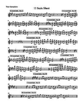 12 Scale Sheet - Tenor Sax