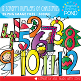 12 Scrappy Numbers of Christmas