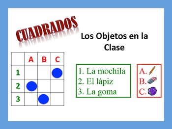 Spanish Classroom Object Activities; Do Now, Fast Finisher
