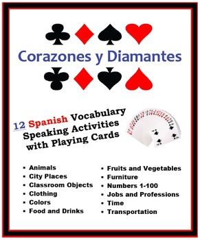 12 Spanish Vocabulary Speaking Activities with Playing Car