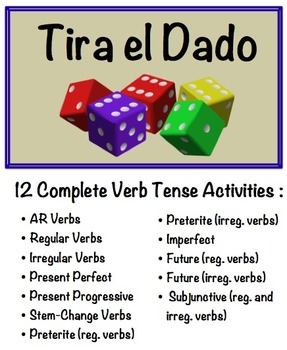 12 Spanish Verb Form Speaking Activities with Dice for Sma