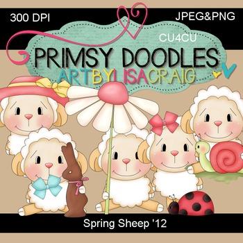 12-Spring Sheep 300 dpi Clipart