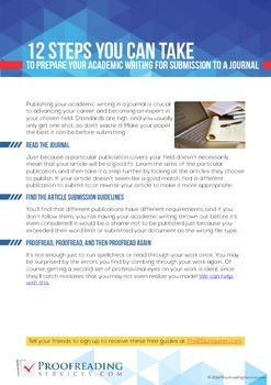 12 Steps to Prepare Your Academic Writing for Submission t