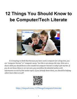 12 Things You Should Know to be Computer/Tech Literate